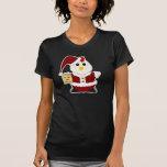 Pollo Huggable Santa Camiseta