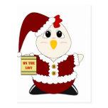 Pollo Huggable Santa Postal