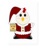 Pollo Huggable Santa Tarjetas Personales