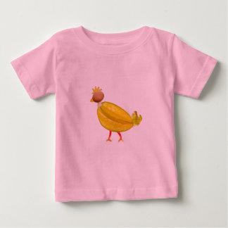 Pollo lindo colorido vegetariano playeras