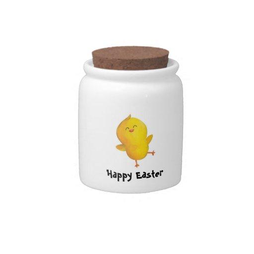 Pollo lindo de Pascua Plato Para Caramelo