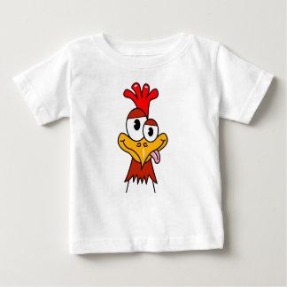 Pollo loco playera para bebé
