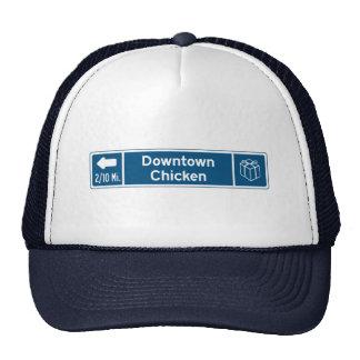 Pollo, marcador del camino, Alaska, los E.E.U.U. Gorros