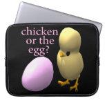 Pollo o el huevo funda ordendadores