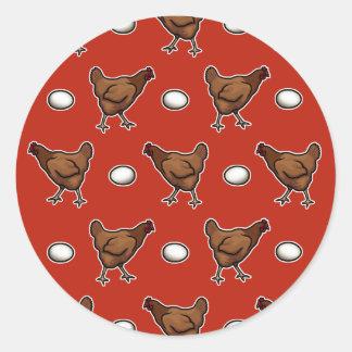 ¿Pollo o el huevo? Etiqueta Redonda