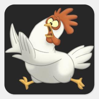 Pollo Pegatina Cuadrada