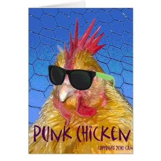 Pollo punky tarjetas