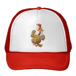 Pollo que corre para su vida gorras