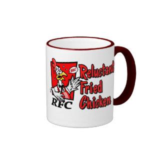 Pollo reacio frito tazas de café