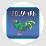 Pollo verde de Delaware Etiqueta Redonda