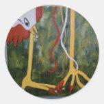 Pollo verde de la concha pegatinas redondas
