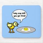 pollo y huevo alfombrillas de ratón