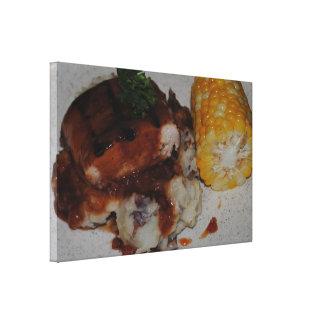 Pollo y maíz de la barbacoa lienzo envuelto para galerias