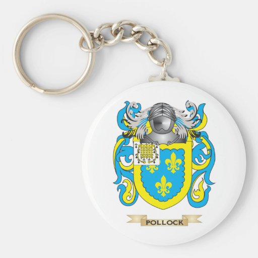 Pollock Coat of Arms (Family Crest) Keychains