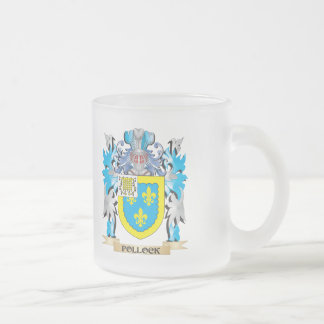 Pollock Coat of Arms - Family Crest 10 Oz Frosted Glass Coffee Mug