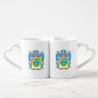 Pollock Coat of Arms - Family Crest Couples' Coffee Mug Set
