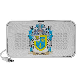 Pollock Coat of Arms - Family Crest Travelling Speakers