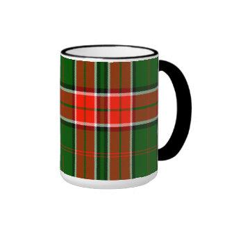 Pollock Scottish Tartan Ringer Coffee Mug