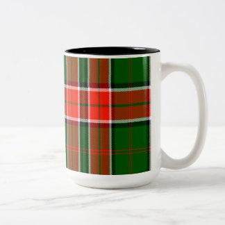 Pollock Scottish Tartan Two-Tone Coffee Mug