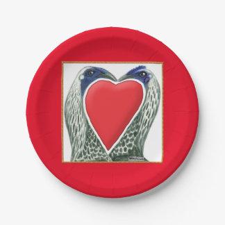 Pollos de juego de la tarjeta del día de San Plato De Papel 17,78 Cm