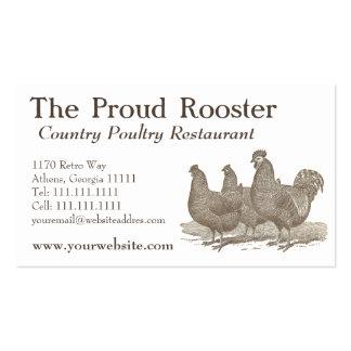 Pollos de Plymouth Rock, gallo Tarjetas De Visita