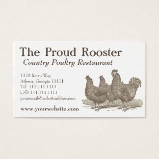 Pollos de Plymouth Rock, gallo Tarjeta De Negocios