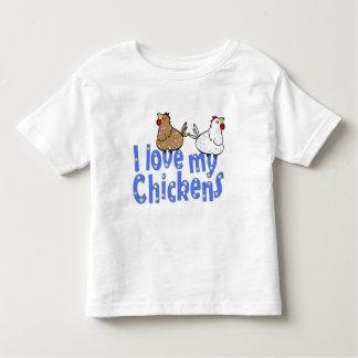 Pollos del amor - la camiseta del niño camisas