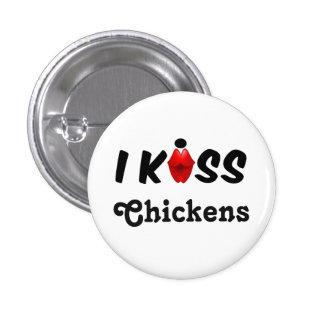 Pollos del beso del botón I Pin Redondo De 1 Pulgada