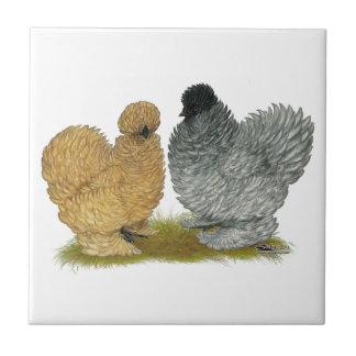 Pollos del chisporroteo azulejos cerámicos