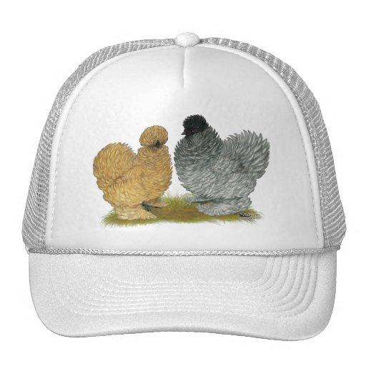 Pollos del chisporroteo gorras de camionero