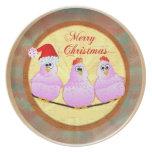 Pollos del navidad plato de cena
