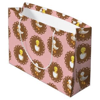 Pollos del país - rosa bolsa de regalo grande