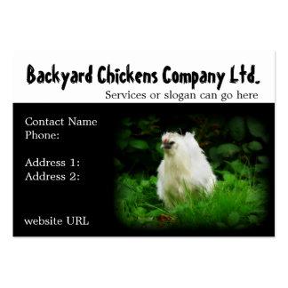 Pollos del patio trasero o tarjetas de visita de l