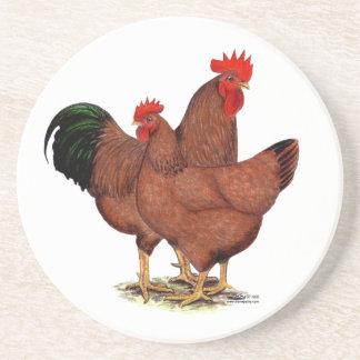 Pollos del rojo de la producción posavaso para bebida