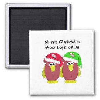 Pollos divertidos del navidad en los gorras de San Imanes Para Frigoríficos