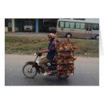 Pollos en Moto-Vietnam Tarjeta De Felicitación