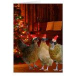 Pollos frescos de Navidad Felicitaciones