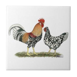 Pollos islandeses teja  ceramica