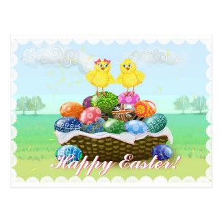 Pollos lindos Pascua feliz Postales