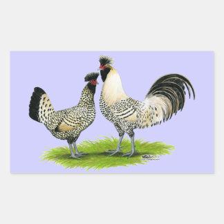 Pollos poner crema de Brabanter Pegatina Rectangular