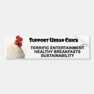 Pollos urbanos de la ayuda pegatina para auto