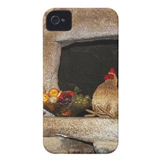 Pollos y fruta de la paja en la repisa, España iPhone 4 Protector