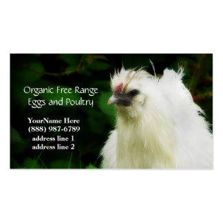 Pollos y tarjetas de visita orgánicos de los huevo