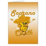 Polluelo #10 del soprano tarjeta de felicitación