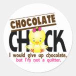 Polluelo 1 del chocolate pegatina redonda