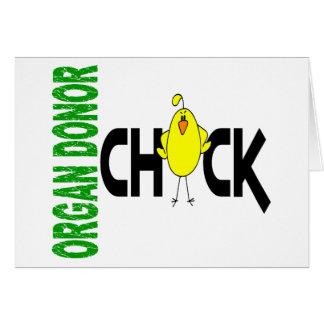 Polluelo 1 del donante de órganos tarjetas