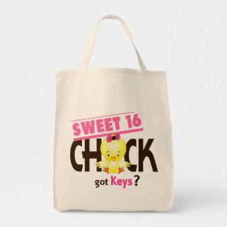 Polluelo 1 del dulce 16 bolsas de mano