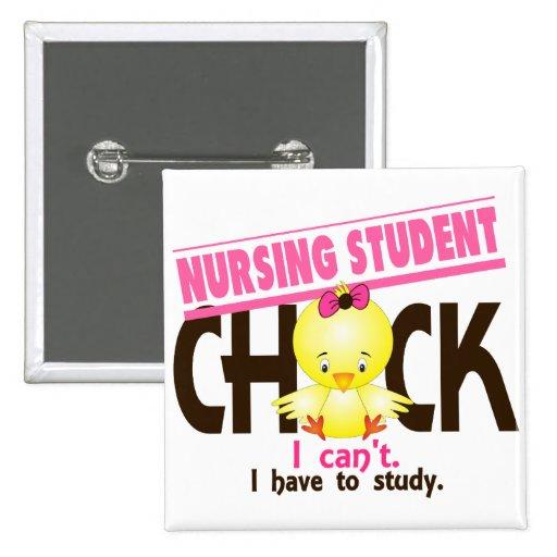 Polluelo 1 del estudiante del oficio de enfermera pin cuadrado