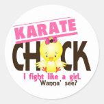 Polluelo 1 del karate pegatina redonda