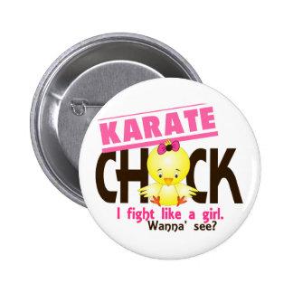 Polluelo 1 del karate pin redondo de 2 pulgadas
